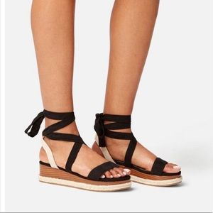 Just Fab Wedge strappy sandals *NEW* size 6.5